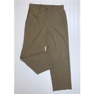 Dressbarn Heathered Tan Straight Leg Pants, 14